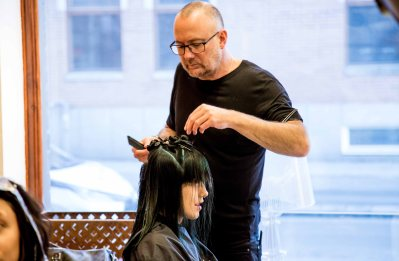 L´ORÉAL preps for event - seminar in Umeå on the 18 th of November, 2017. Hair cut by Simon Raby , hair colour by Elias Antonios from (L´ORÉAL proffesional)